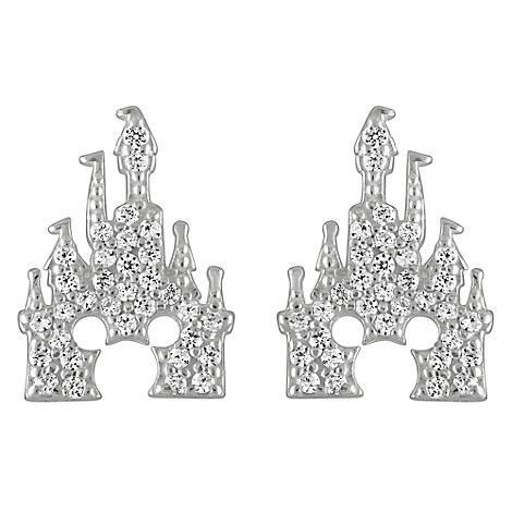 Mickey Mouse Castle Earrings by Rebecca Hook - Silver