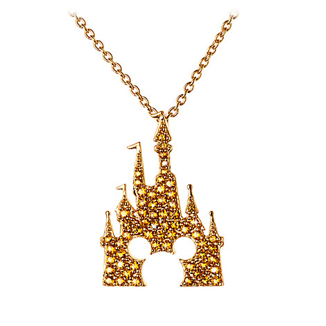 Mickey Mouse Castle Necklace by Rebecca Hook - Gold