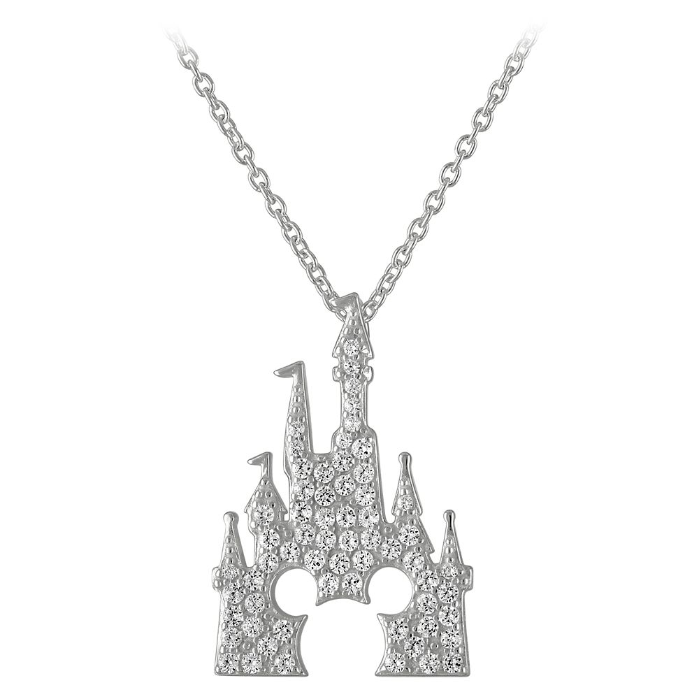 Mickey Mouse Fantasyland Castle Necklace by Rebecca Hook – Silver