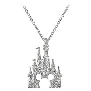 Mickey Mouse Castle Necklace by Rebecca Hook