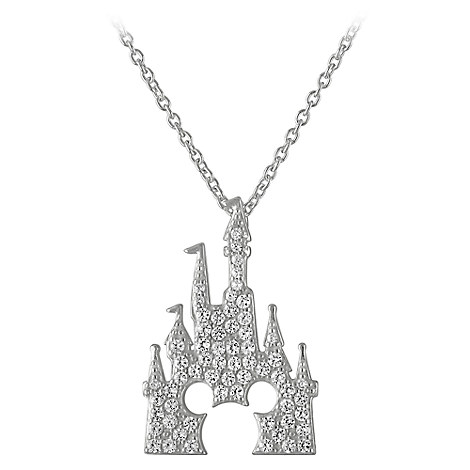 Mickey Mouse Castle Necklace by Rebecca Hook - Silver