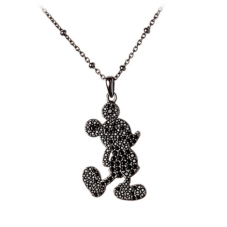 Mickey Mouse Silhouette Necklace by Rebecca Hook