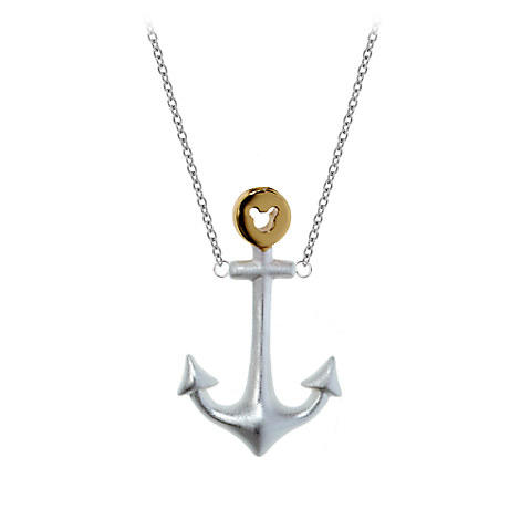 Mickey Mouse Anchor Necklace by Rebecca Hook