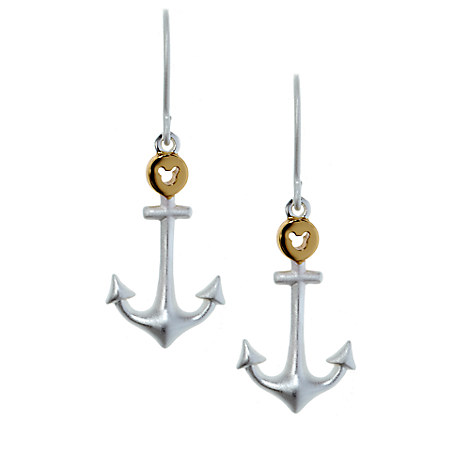 Mickey Mouse Anchor Earrings by Rebecca Hook