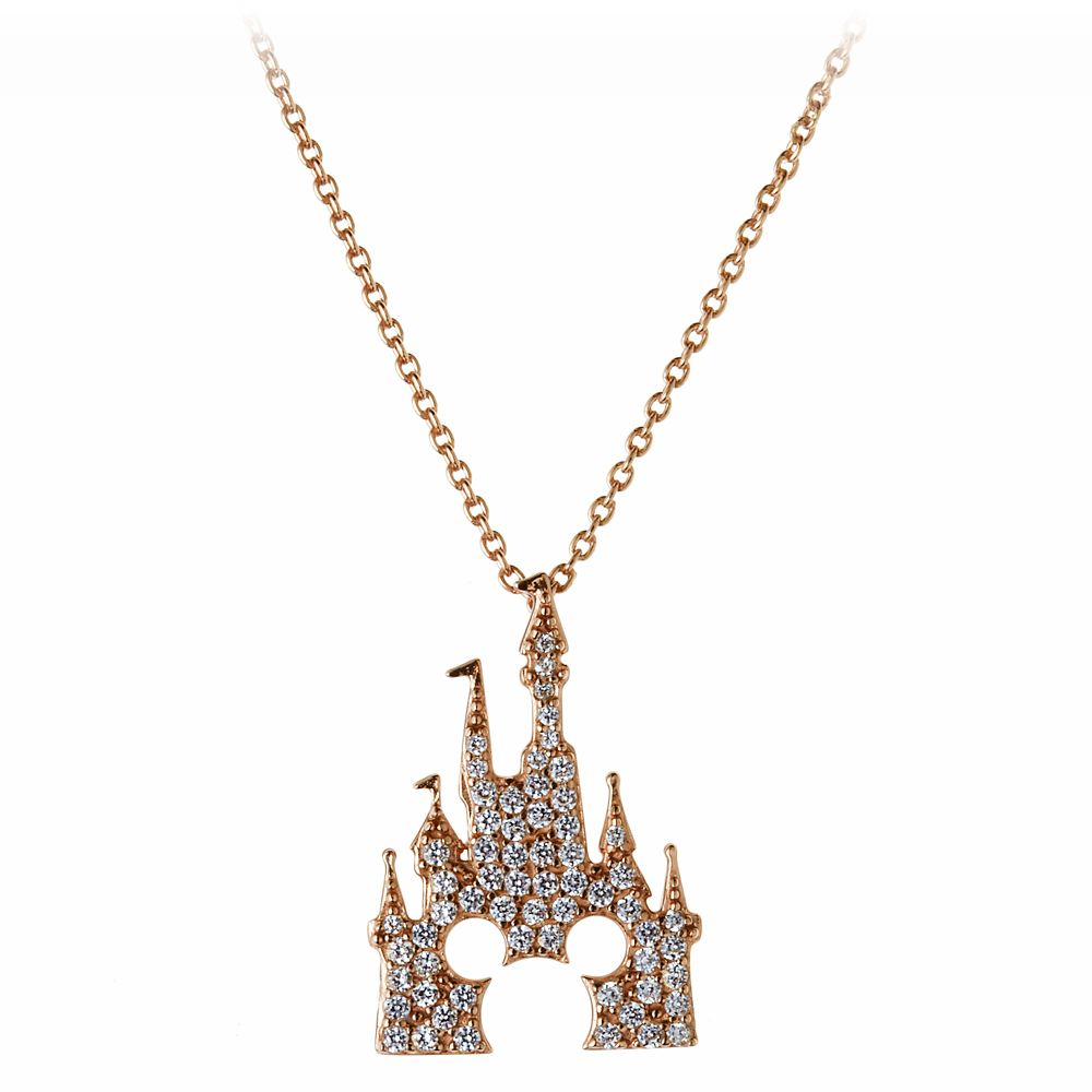 Mickey Mouse Rose Gold Castle Necklace – Rebecca Hook
