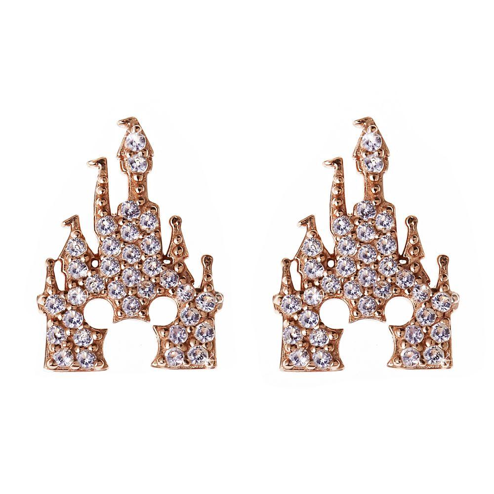 Mickey Mouse Rose Gold Castle Earrings – Rebecca Hook