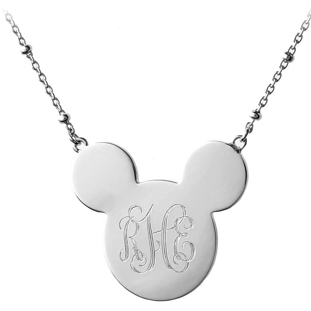Mickey Mouse Monogram Necklace – Rebecca Hook – Personalizable