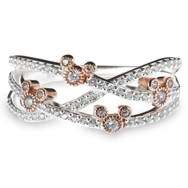 Mickey Mouse Crisscross Ring by Rebecca Hook