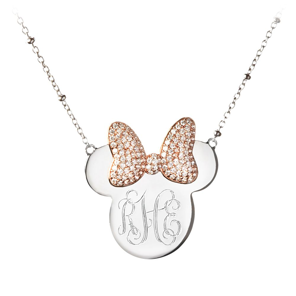 Minnie Mouse Monogram Necklace by Rebecca Hook – Personalizable