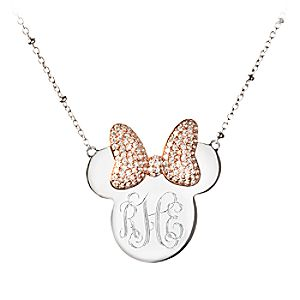 Minnie Mouse Monogram Necklace by Rebecca Hook - Personalizable