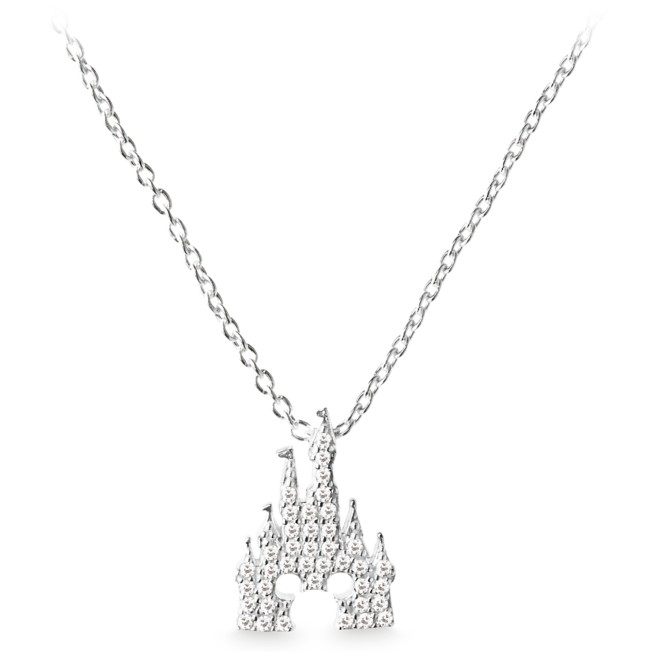 Mickey Mouse Icon on Fantasyland Castle Necklace by Rebecca Hook