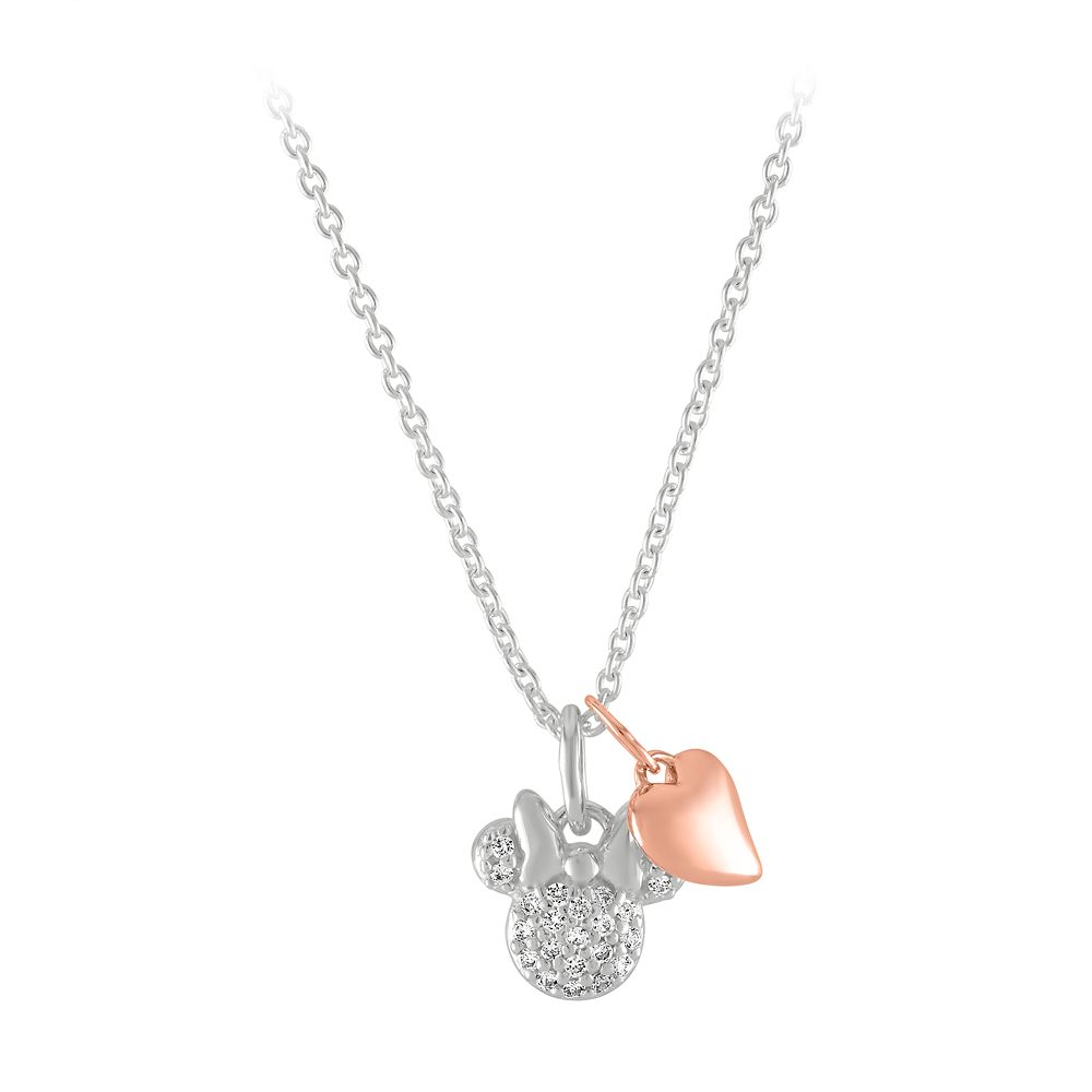 Minnie Mouse and Heart Necklace by Rebecca Hook