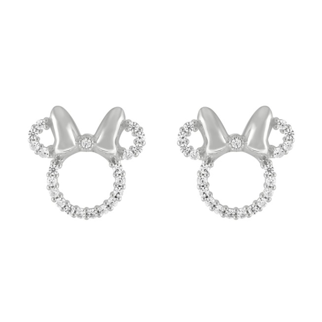 Minnie Mouse Sterling Silver Icon Earrings by Rebecca Hook