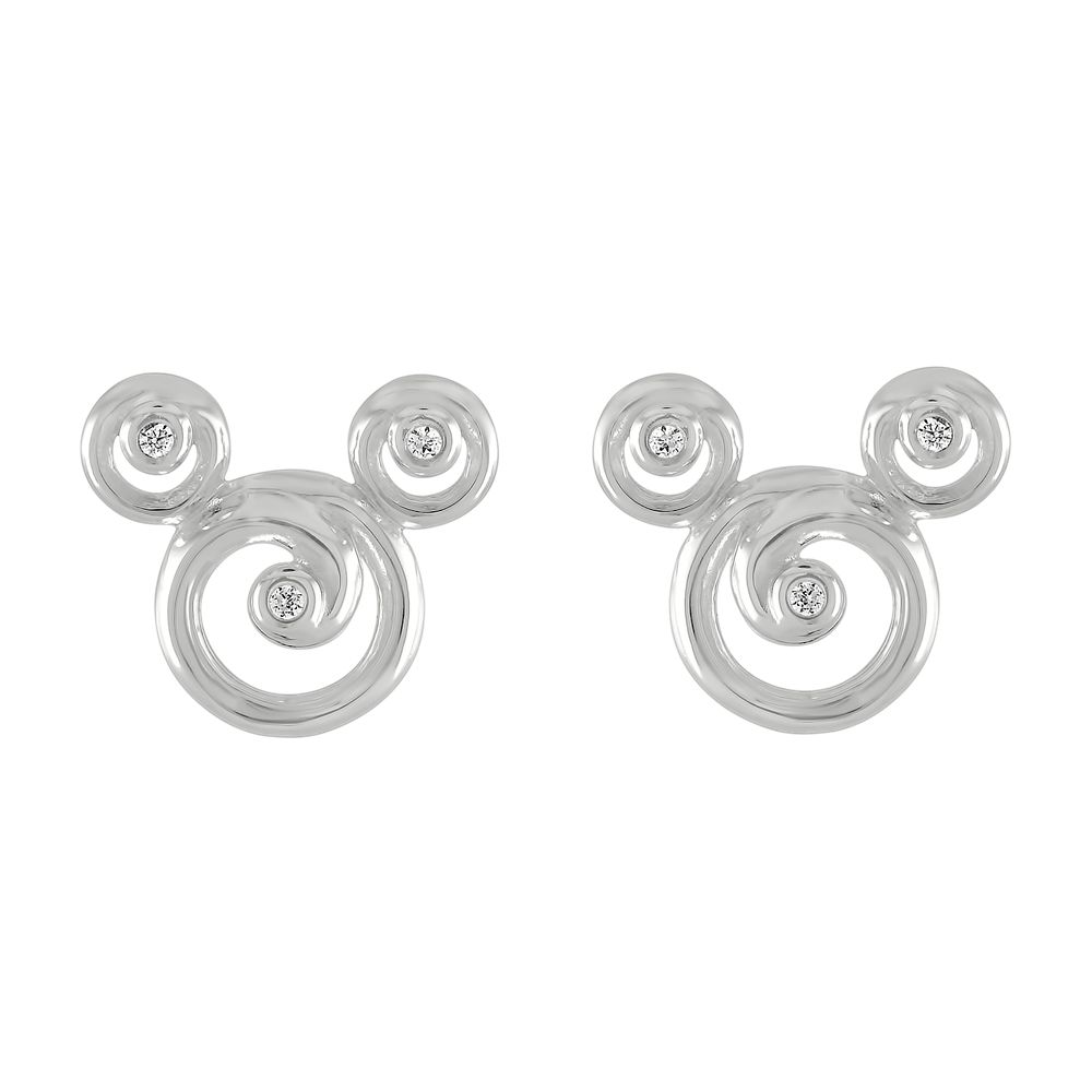 Mickey Mouse Swirl Icon Earrings by Rebecca Hook