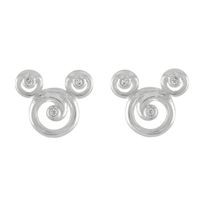 Mickey Mouse Swirl Icon Earrings by Rebecca Hook