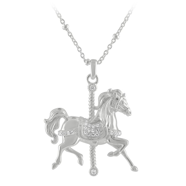 King Arthur Carrousel Horse Necklace by Rebecca Hook