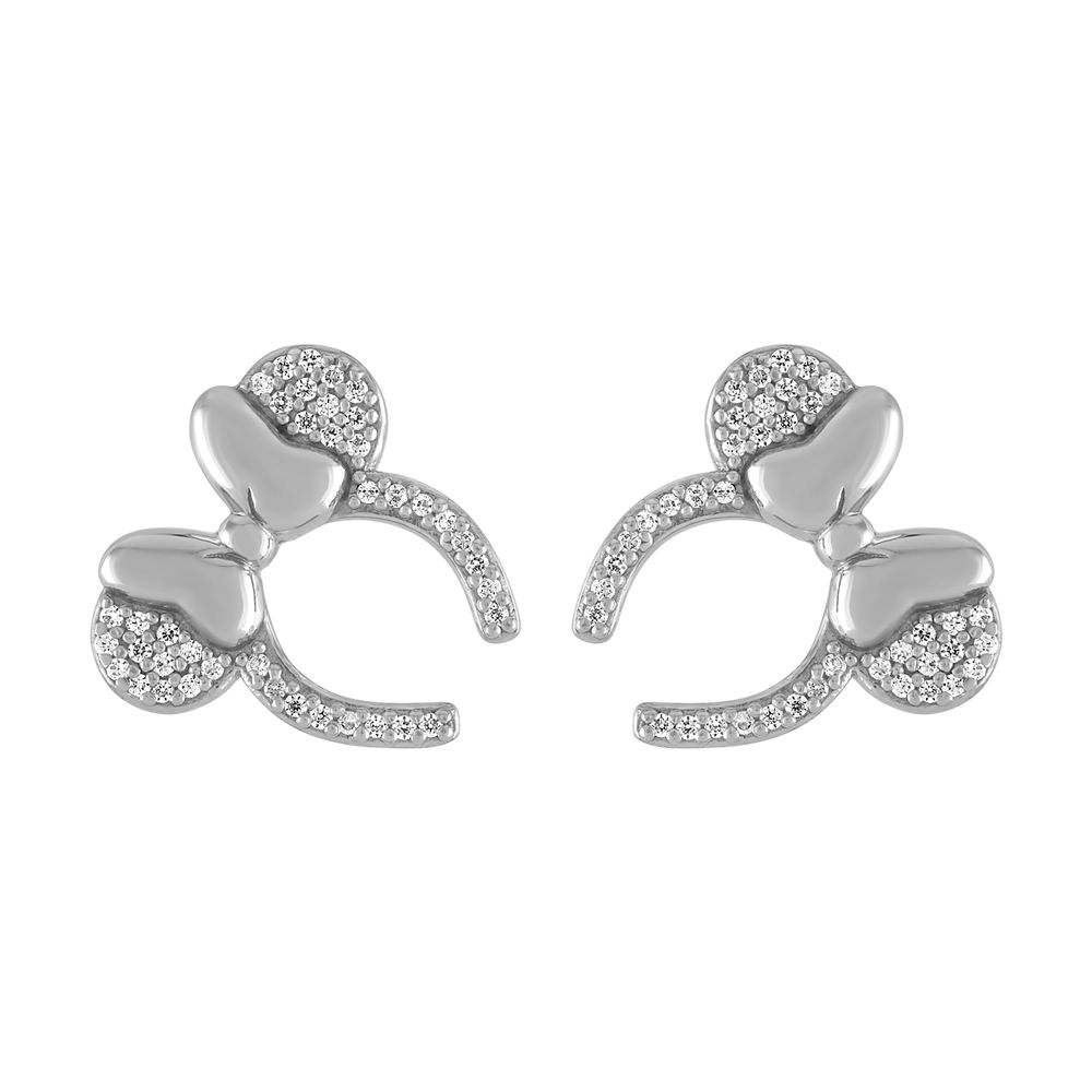 Minnie Mouse Headband Earrings by Rebecca Hook – Silver