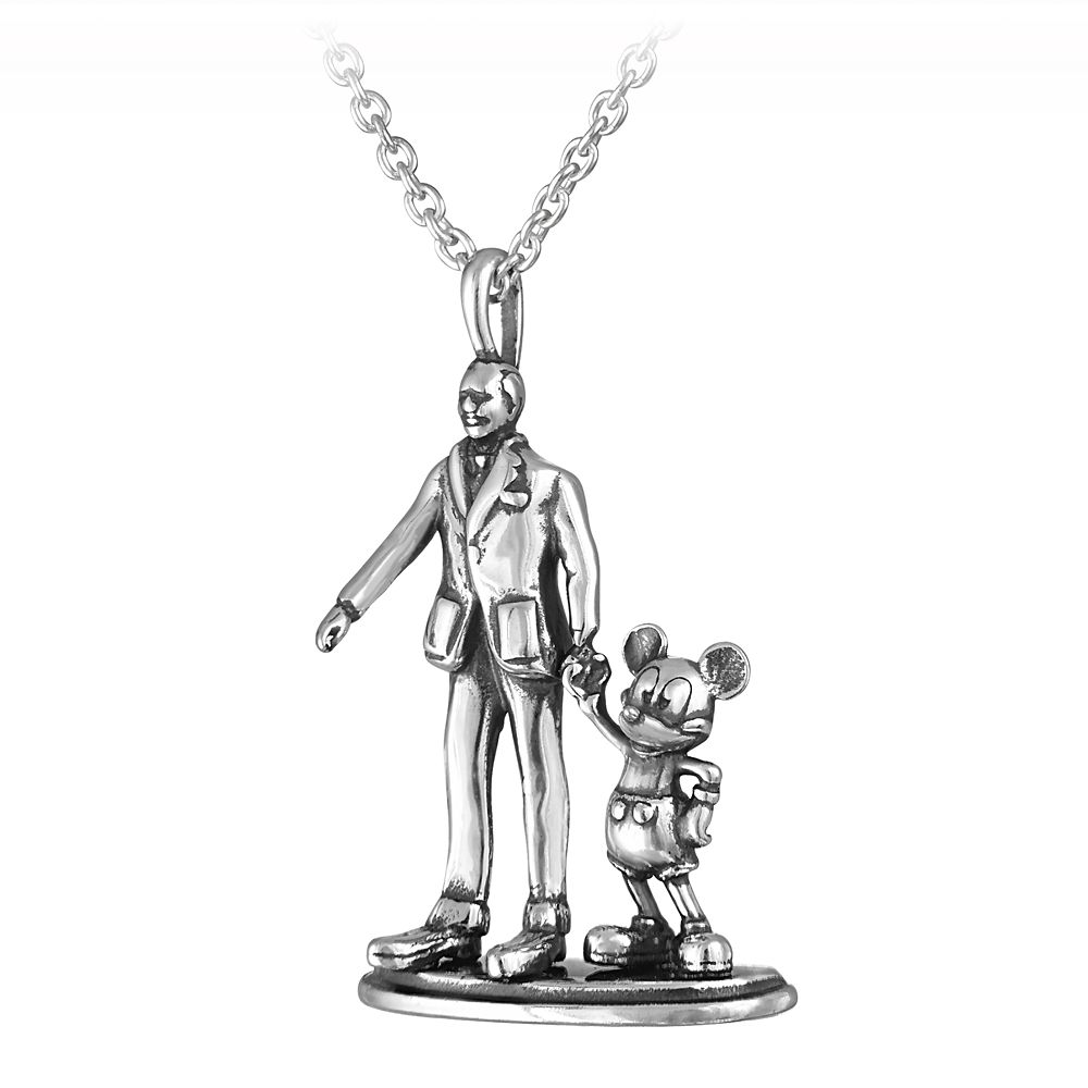 Walt Disney and Mickey Mouse ''Partners'' Necklace by Rebecca Hook
