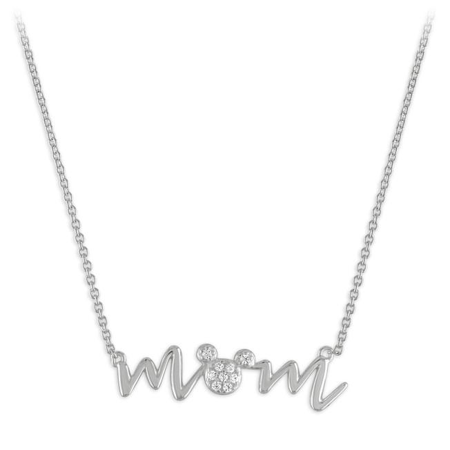 Mickey Mouse ''Mom'' Necklace by Rebecca Hook