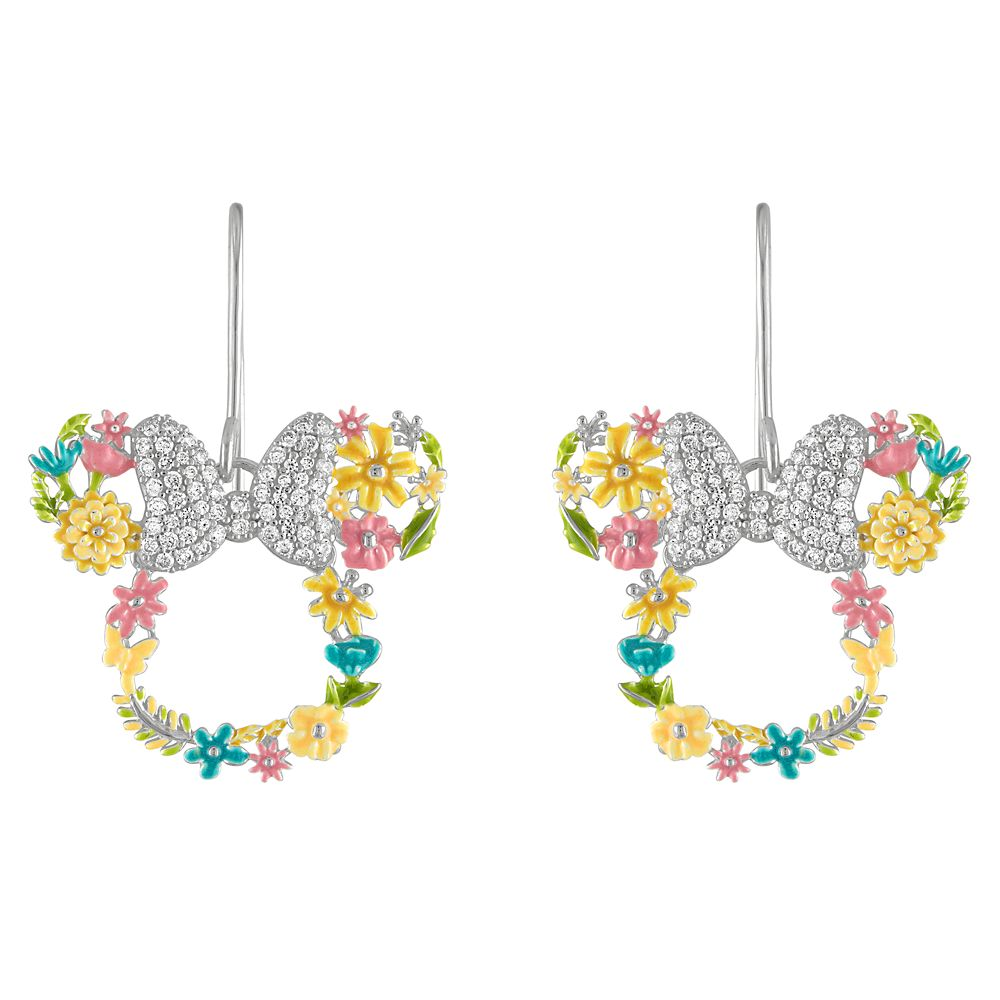 Minnie Mouse Flower Icon Earrings by Rebecca Hook