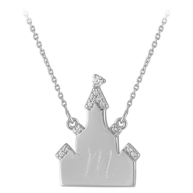 Fantasyland Castle Silver Necklace by Rebecca Hook – Personalized