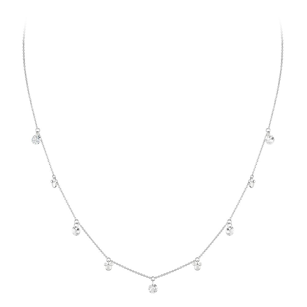 Mickey Mouse White Topaz Necklace by Rebecca Hook
