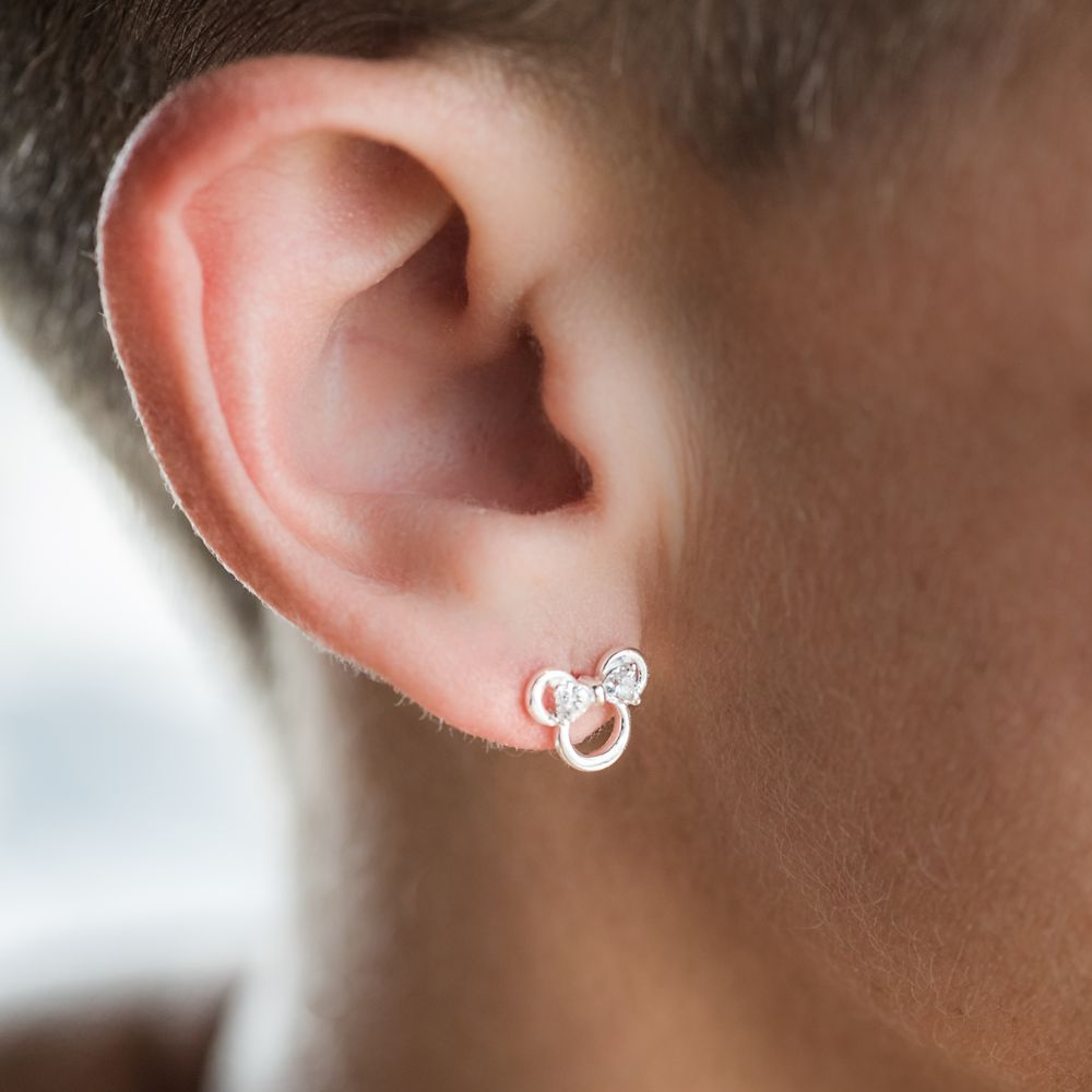 Minnie Mouse Icon Earrings by Rebecca Hook