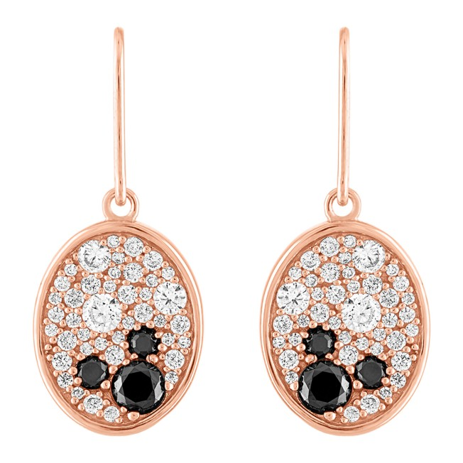 Mickey Mouse Rose Gold Oval Earrings by Rebecca Hook