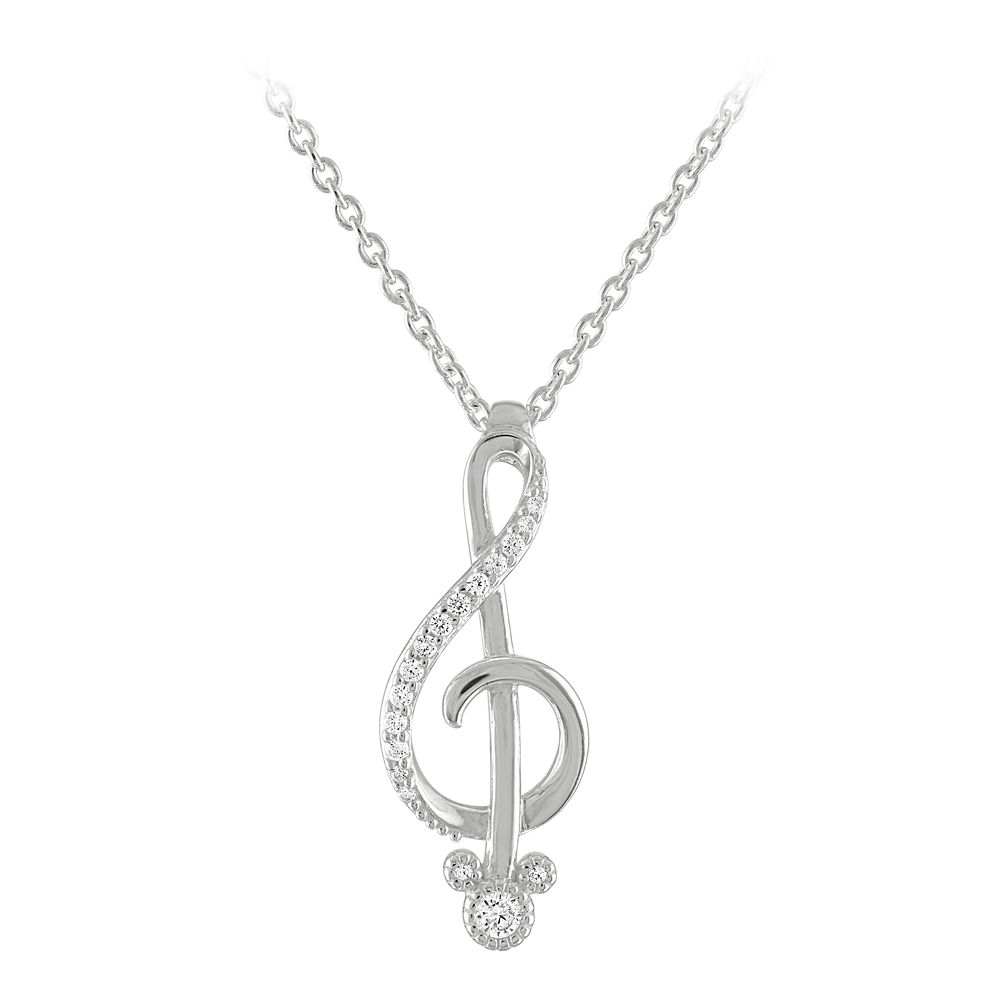 Mickey Mouse Music Necklace by Rebecca Hook