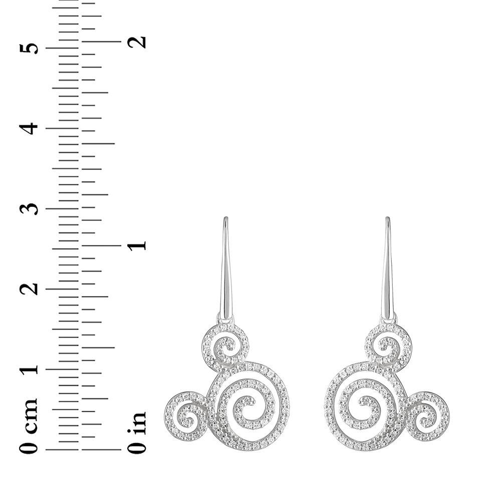 Mickey Mouse Icon Swirl Earrings by Rebecca Hook