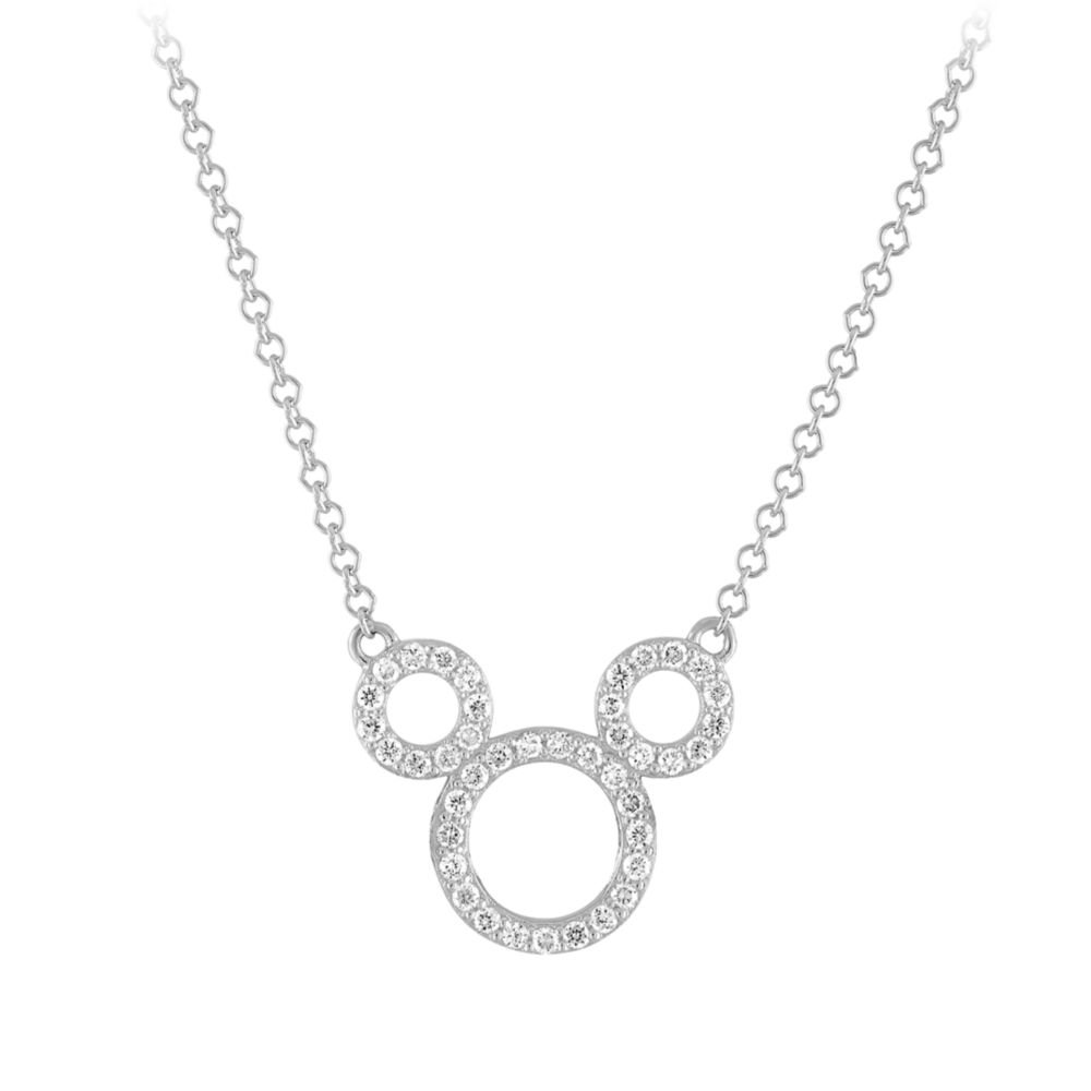 Mickey Mouse Icon Diamond Pendant Necklace by Rebecca Hook