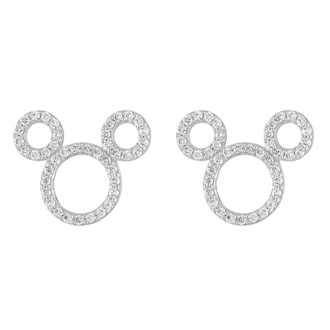 Mickey Mouse Icon Diamond Earrings by Rebecca Hook