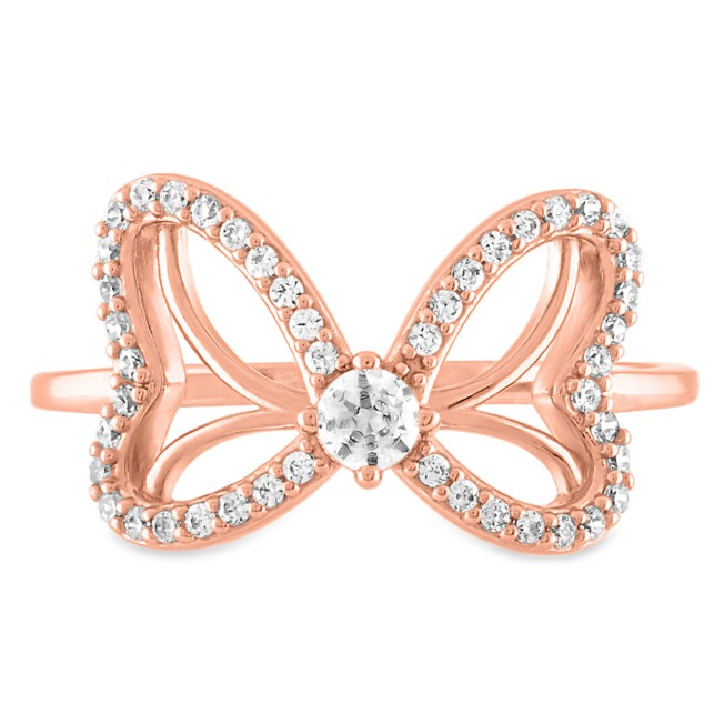 Minnie Mouse Bow Rose Gold Ring by Rebecca Hook