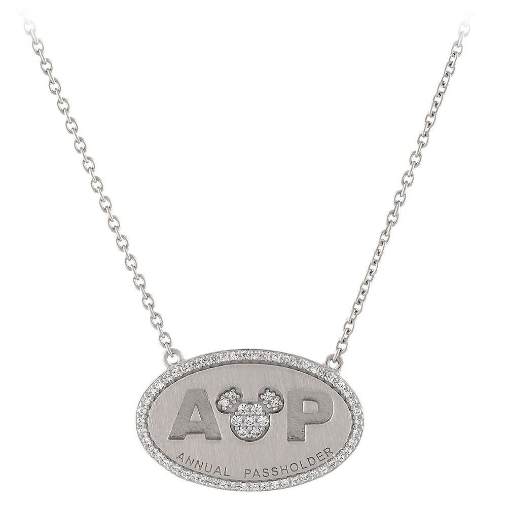 Mickey Mouse Annual Passholder Pendant Necklace by Rebecca Hook