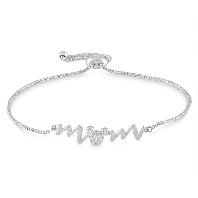 Mickey Mouse ''Mom'' Bolo Bracelet by Rebecca Hook