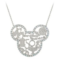 Mickey Mouse Icon Walt Disney World 50th Anniversary Necklace by Rebecca Hook – Silver