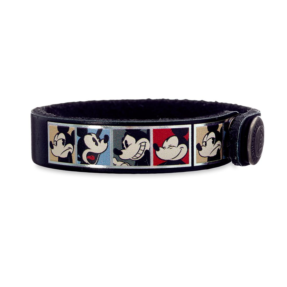 Mickey Mouse Comic Leather Bracelet  Personalizable Official shopDisney