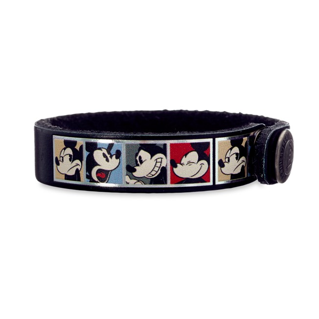Mickey Mouse Comic Leather Bracelet – Personalizable