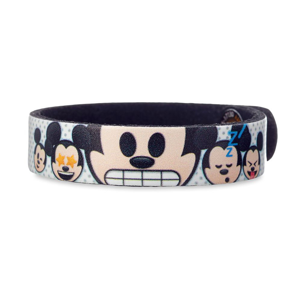 Mickey Mouse Emoji Leather Bracelet  Personalizable Official shopDisney