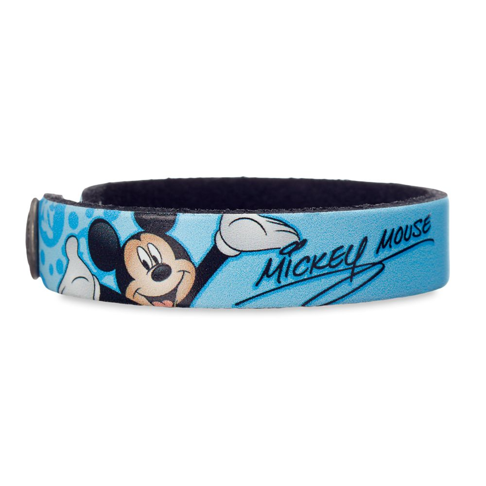 Mickey Mouse Signature Leather Bracelet – Personalizable