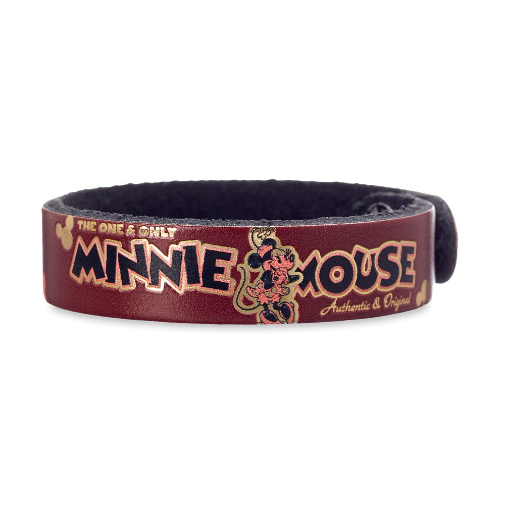 Minnie Mouse Icon Leather Bracelet – Personalizable