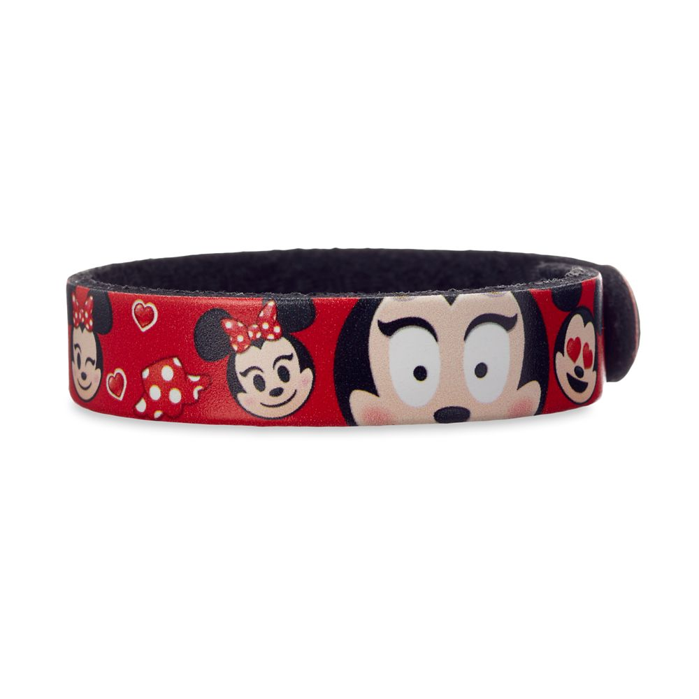 Minnie Mouse Emoji Leather Bracelet – Personalizable