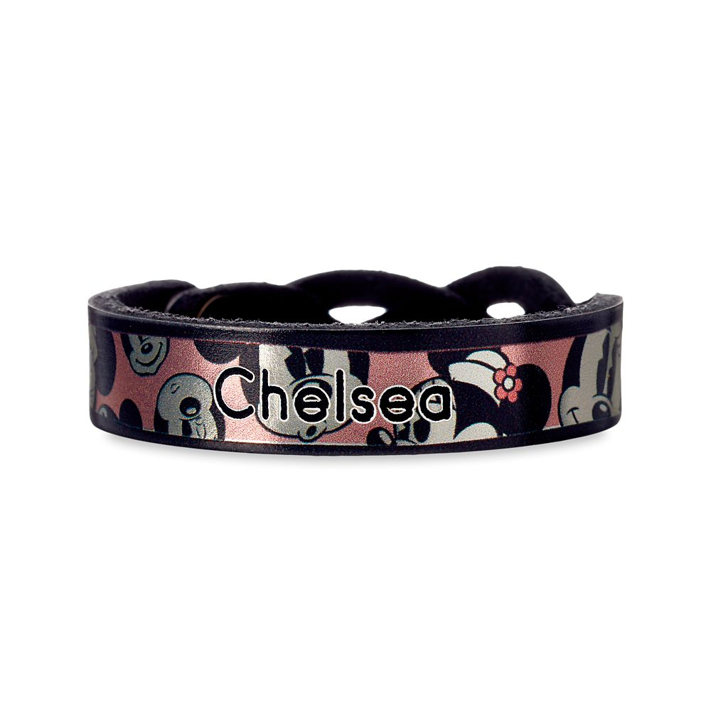 Minnie Mouse Braid Leather Bracelet – Personalizable