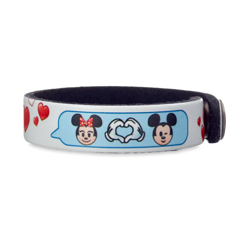 Mickey and Minnie Mouse Emoji Leather Bracelet – Personalizable