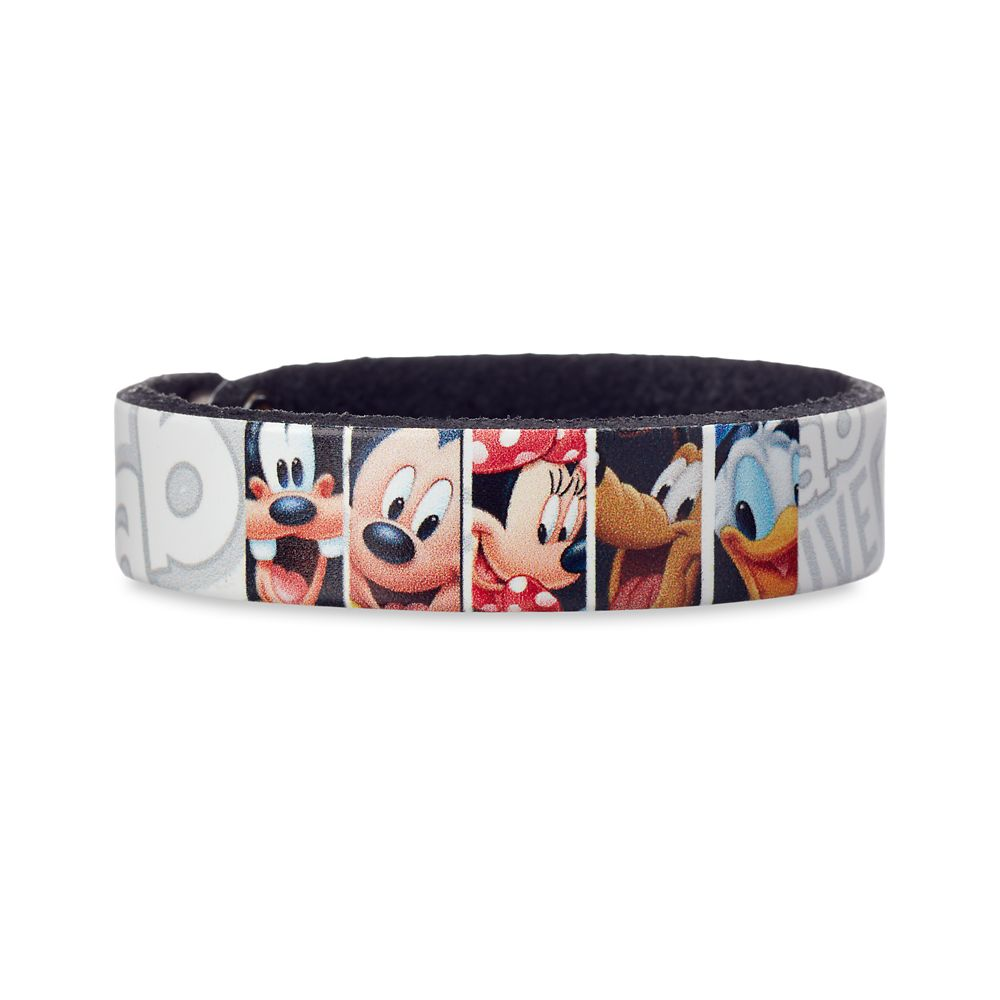 Mickey Mouse and Friends Sketch Leather Bracelet  Personalizable Official shopDisney