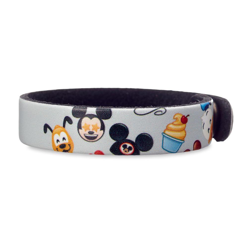 shopdisney.com - Disney Parks Emoji Leather Bracelet  Personalizable 11.95 USD