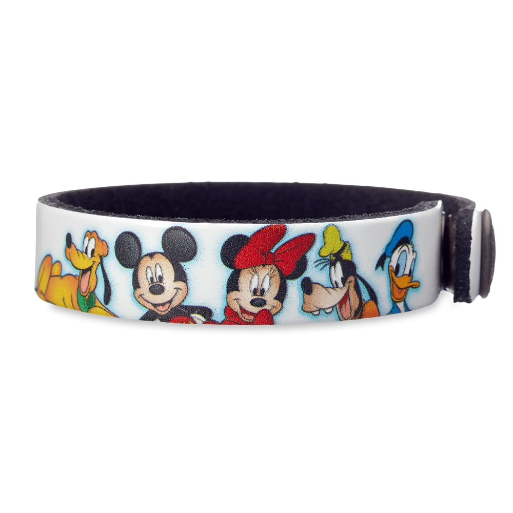 Mickey Mouse and Friends Leather Bracelet – Personalizable
