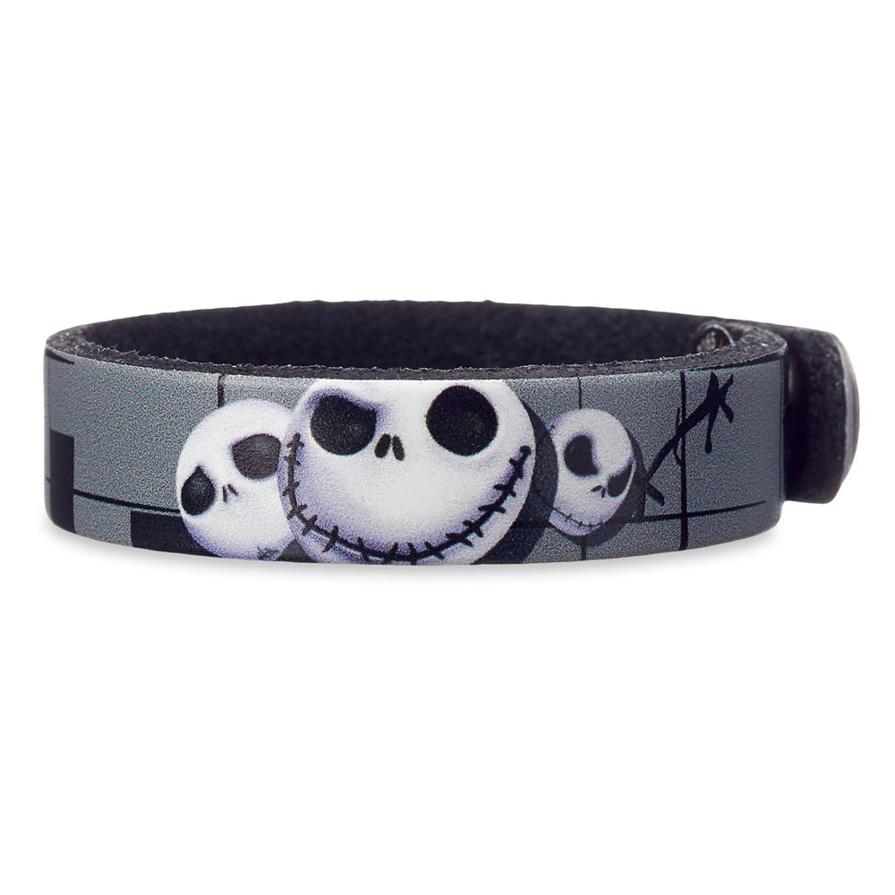Jack Skellington Leather Bracelet – Personalizable