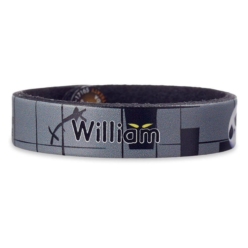 Jack Skellington Leather Bracelet – Personalizable