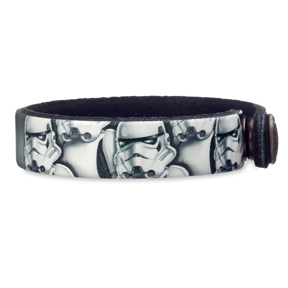 Best Star Wars Gift Ideas featured by top US Disney blogger, Marcie and the Mouse: Stormtrooper Leather Bracelet Star Wars Personalizable Official shopDisney